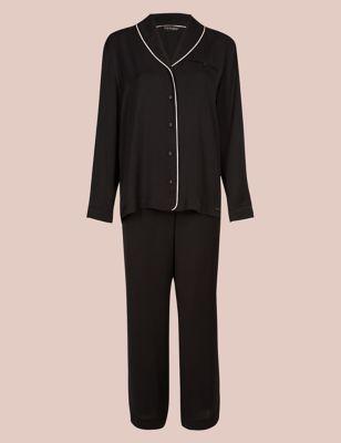 Satin Revere Long Sleeve Pyjama Set by Marks & Spencer