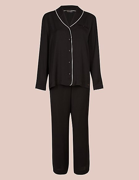 Satin Revere Long Sleeve Pyjama Set