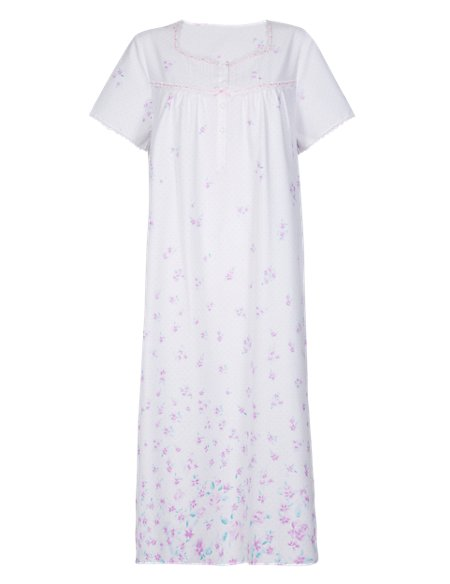 Floral & Spotted Nightdress