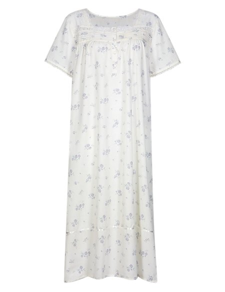Floral Pintuck Nightdress