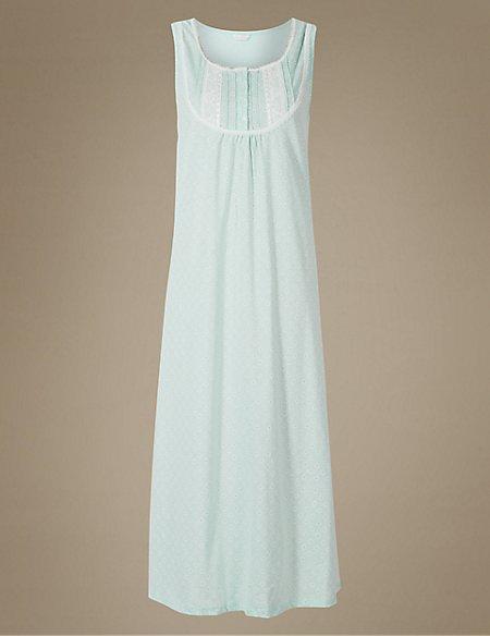 Printed Built-up Shoulder Nightdress