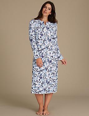 Pure Cotton Printed Nightdress, CREAM MIX, catlanding