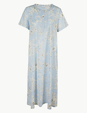 Cotton Rich Floral Print Nightdress