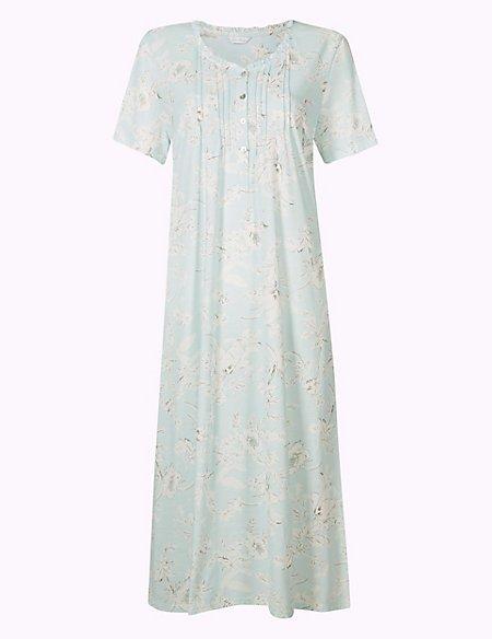Cotton Rich Floral Print Nightdress
