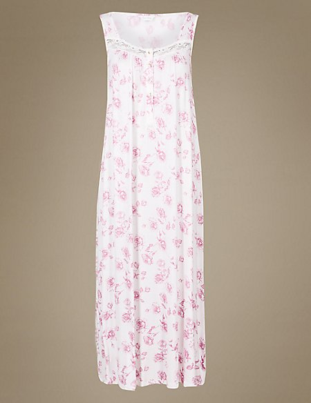 Floral Print Jersey Nightdress