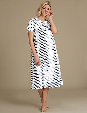 Geometric Print Short Sleeve Nightdress