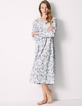 Pure Cotton Floral Print Short Nightdress