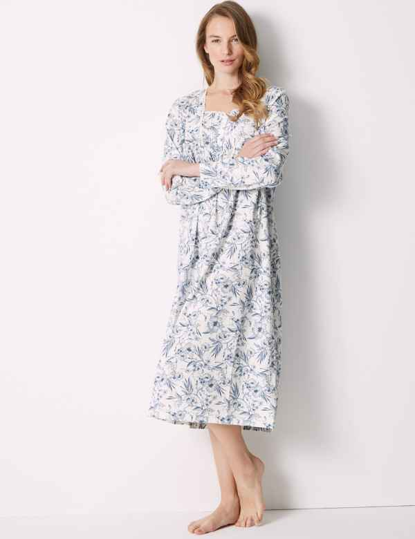 Pure Cotton Floral Nightdress. M S Collection a9407d076