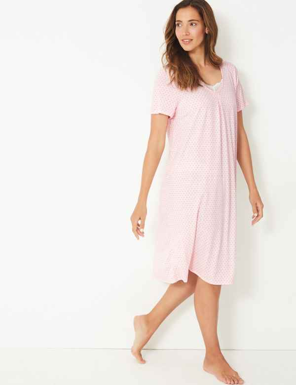 472df90d1b4 Jersey Tile Short Sleeve Nightdress