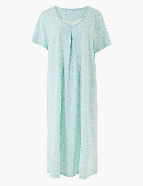 Jersey Leaf Short Nightdress