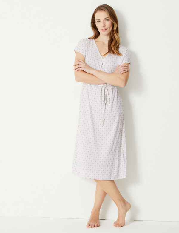 c6a15d0209a Cotton Modal Jersey Tile Nightdress
