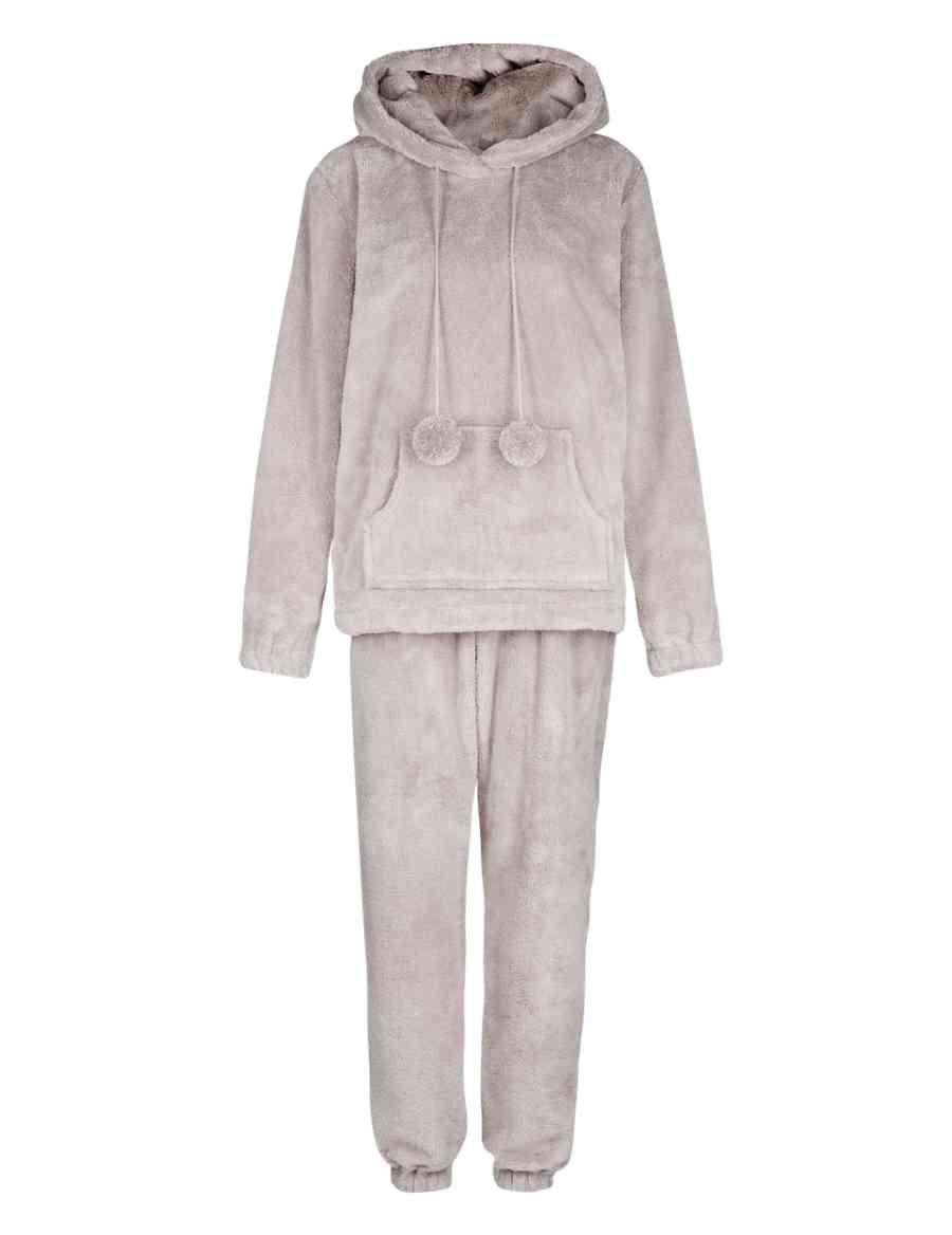 d76c63b74cdb Soft   Cosy Hooded Fleece Pyjamas