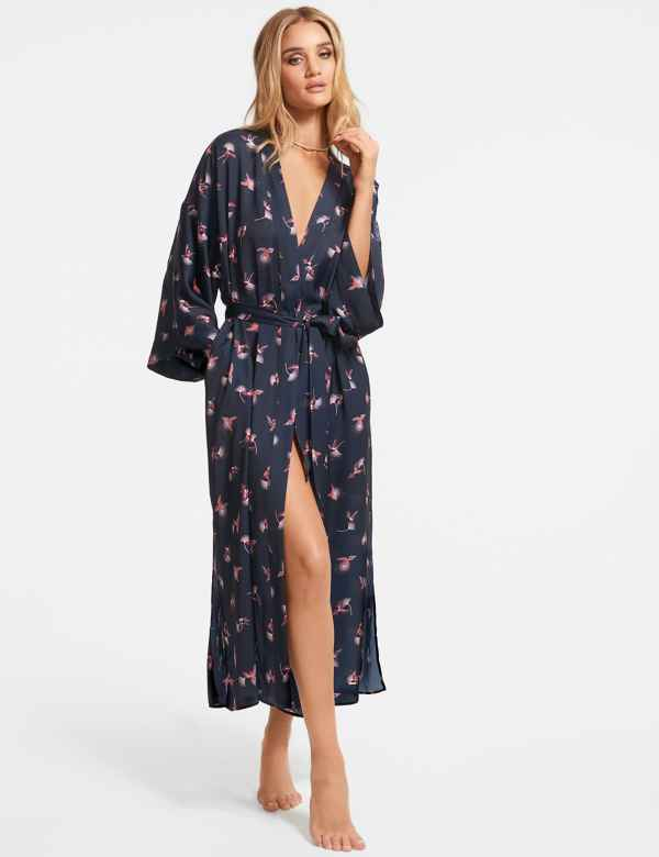 b297e8e315 Satin Hummingbird Dressing Gown