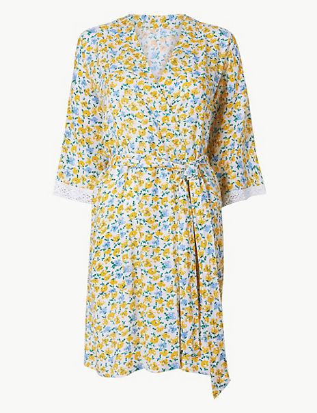 Ditsy Floral Short Dressing Gown
