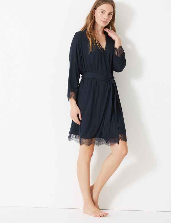 b1aa02907a Sale. Sparks. Lace Trim Short Dressing Gown