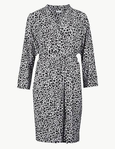 Animal Print Dressing Gown