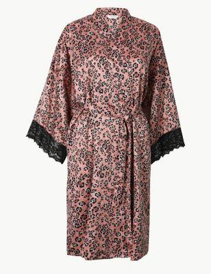 c91acff5fd6f Satin Animal Short Dressing Gown £25.00