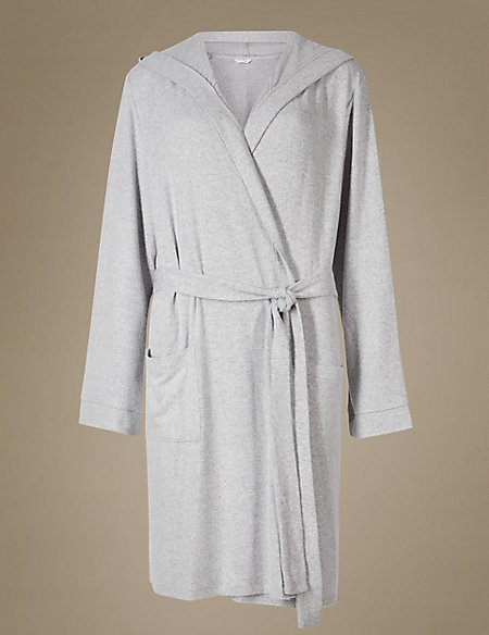 Hooded Knit Dressing Gown | M&S Collection | M&S