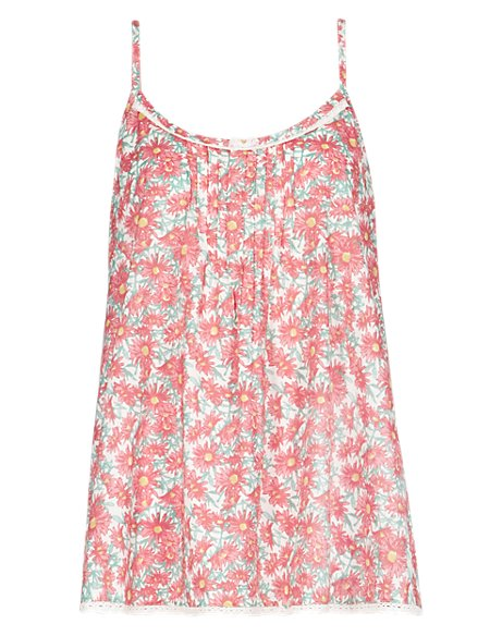Floral Camisole Pyjama Top with Modal