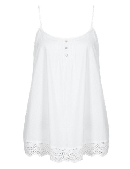 Pure Cotton Dobby Spotted Camisole