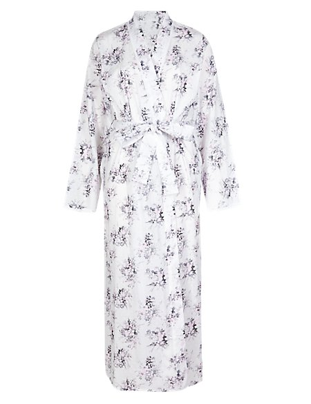 Pure Cotton Dobby Floral Wrap with Cool Comfort™ Technology