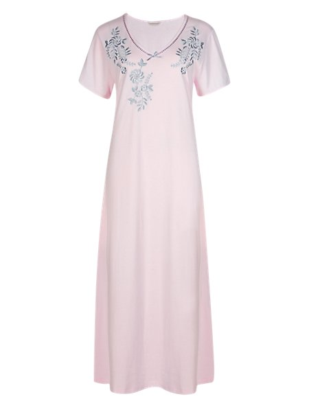 Floral Long Nightdress with Cool Comfort™ Technology