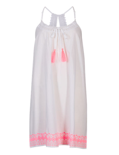 Pure Cotton Neon Embroidered Chemise