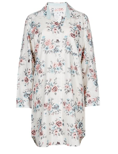 Pure Cotton Floral Nightshirt