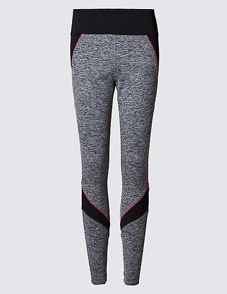 Pink Trim Jaspe Leggings