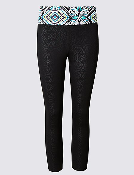 Quick Dry Geometric Print Leggings with Cool Comfort™ Technology