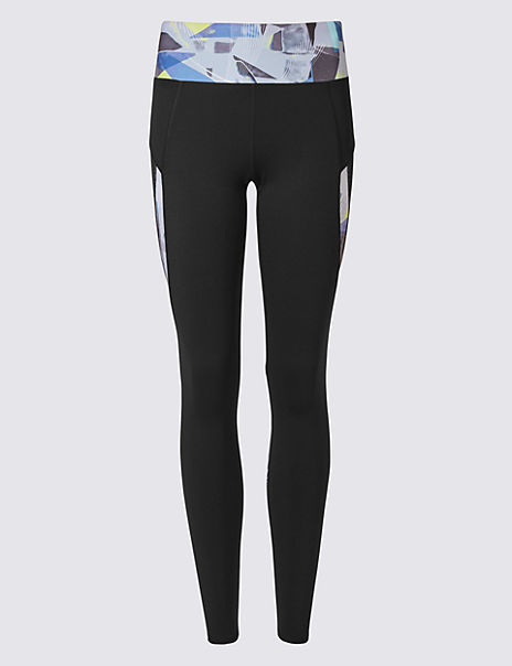 Performance Graphite Print Leggings