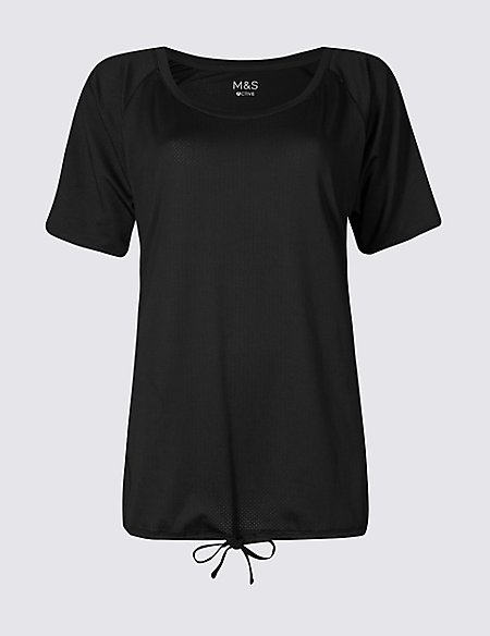 Tie Front Short Sleeve T-Shirt