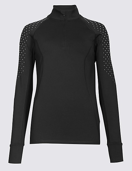 Reflective Dot Run Top