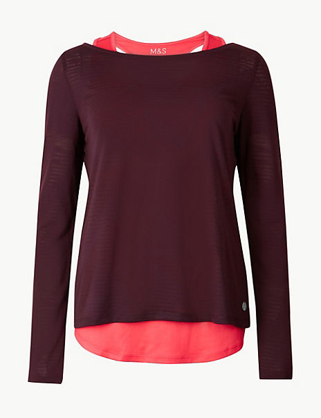 Double Layer Quick Dry Long Sleeve Top