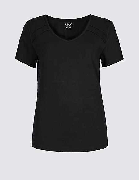 Cotton Rich Quick Dry Short Sleeve Top