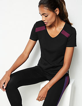 Active Cotton Rich Short Sleeve Top
