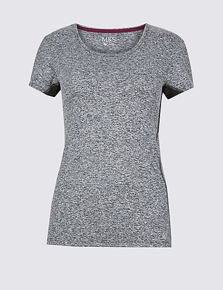 Textured Quick Dry Short Sleeve Top