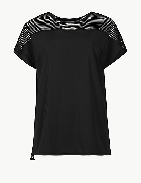 Striped Quick Dry Short Sleeve Top