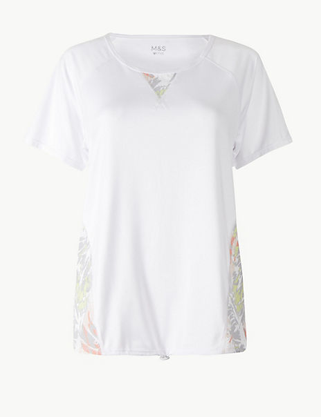 Quick Dry Printed Short Sleeve Sport Top