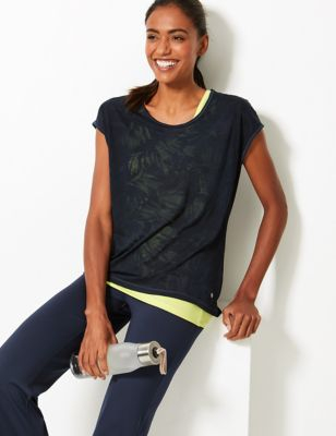 Double layer Short Sleeve Sport Top