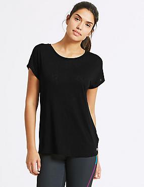 Textured Burnout Short Sleeve Top