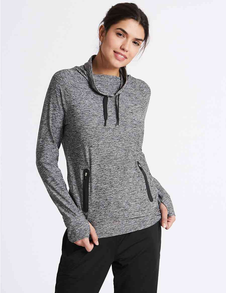98f88c6caa Supersoft Funnel Neck Top