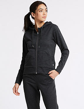 Brushed Hooded Top , CHARCOAL, catlanding