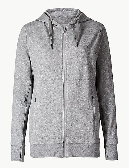 Quick Dry Long Line Hooded Top