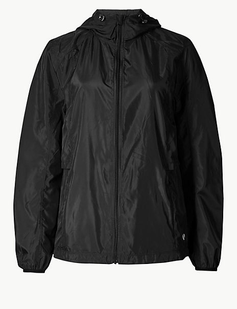 Hooded Long Sleeve Windbreaker Jacket