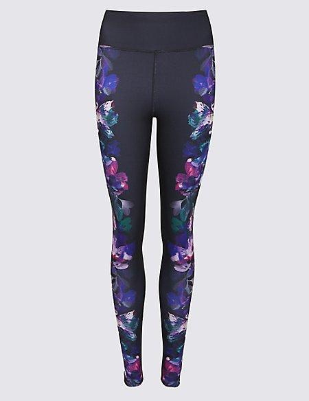 Floral Print Ombre Leggings