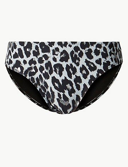 Animal Print Hipster Bikini Bottoms