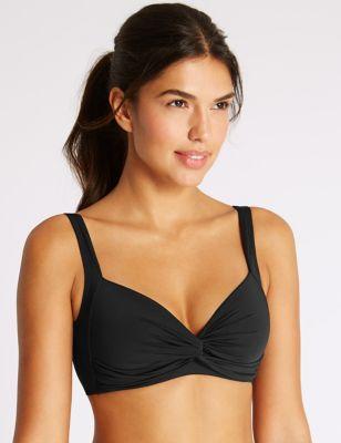 2c7bbbcd6c3e Parte de arriba de bikini escotada sin aros