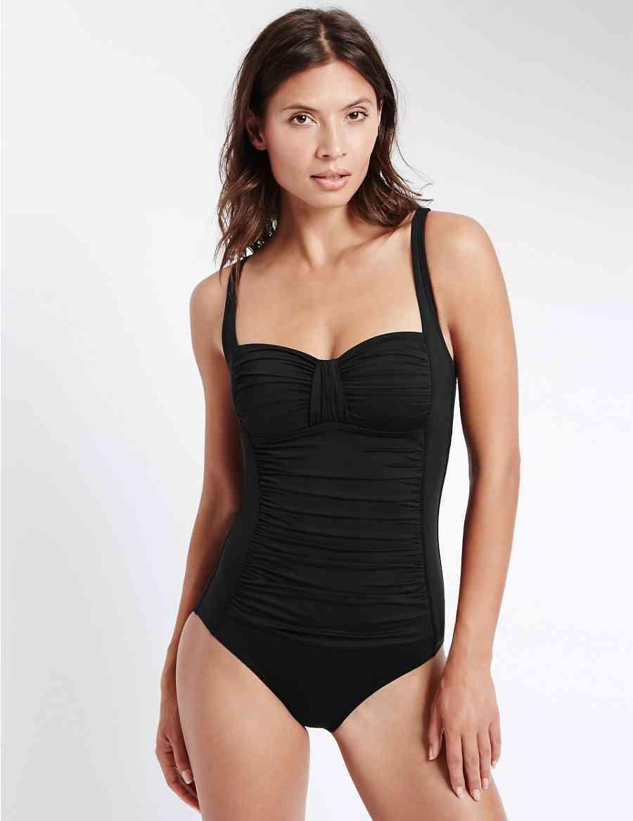 10f69ee7347de Secret Slimming trade  Ruched Swimsuit