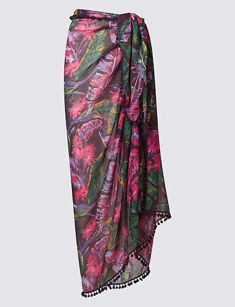 5e14410144 Product images. Skip Carousel. Floral Print Sarong Wrap